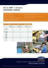 KLT & KMT 1–5 tonne STACKING TABLES - Heinrich Georg GmbH ...