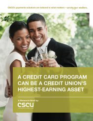 A CREDIT CARD PROGRAM CAN BE A CREDIT UNION'S HIGHEST-EARNING ASSET