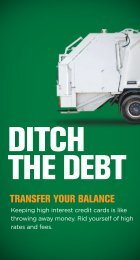 DITCH THE DEBT