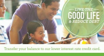 Transfer your balance to our lower interest rate credit card