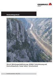 Steinschlagschutz Tempi Valley / Griechenland - Geobrugg AG
