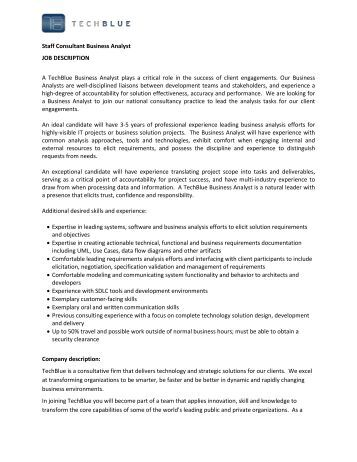 job description of business consultant mckinsey resume sample