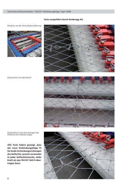 Geflechtsbahnen mit dem neuen Verbindungsklipp T3 - Geobrugg AG