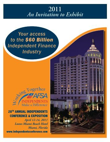 Brochure - (AFSA) Independents Conference
