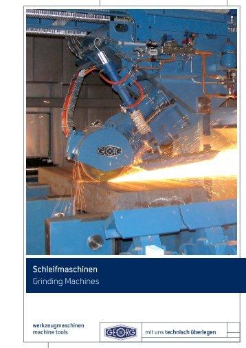 Schleifmaschinen - Heinrich Georg GmbH Maschinenfabrik