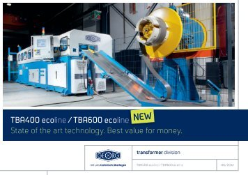 TBA400 ecoline /TBA600 eco line State of the art technology. Best ...
