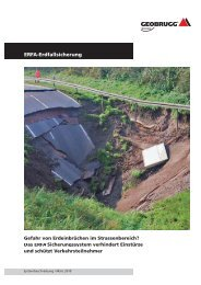 Das ERFA-Sicherungssystem verhindert Einstürze ... - Geobrugg AG