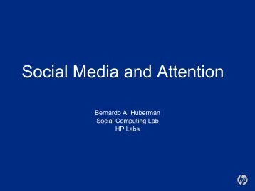 Social Media and Attention