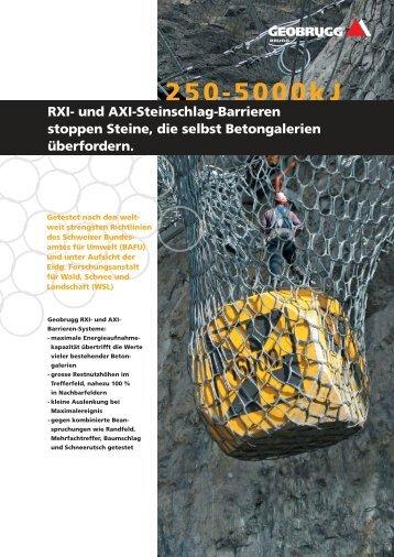 Informieren Sie sich in unseren neuen ... - Geobrugg AG