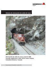 El sistema de atenuación de caída de rocas y la ... - Geobrugg AG