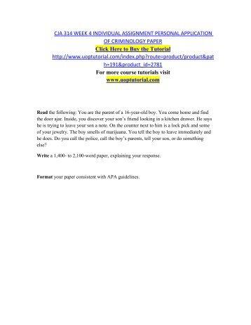 CJA 314 Week 5 Team Paper Criminology in the Future