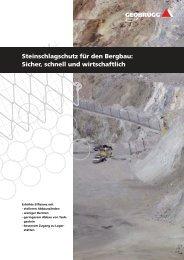 Steinschlagschutz für den Bergbau: Sicher, schnell ... - Geobrugg AG