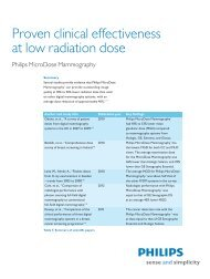 Proven clinical effectiveness at low radiation dose