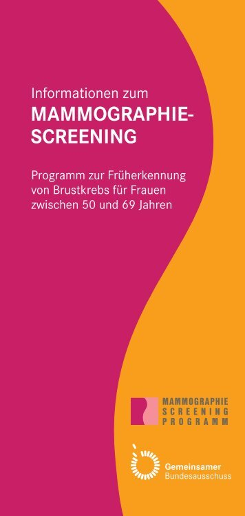 MAMMOGRAPHIE- SCREENING
