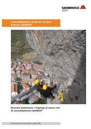 Consolidamento di pareti rocciose Sistema QUAROX® - Geobrugg AG