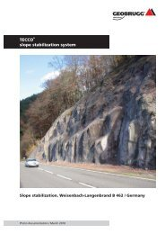 TECCO slope stabilization system - Geobrugg AG