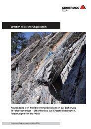 SPIDER® Felssicherungssystem - Geobrugg AG