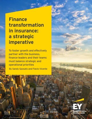 Finance transformation in insurance a strategic imperative