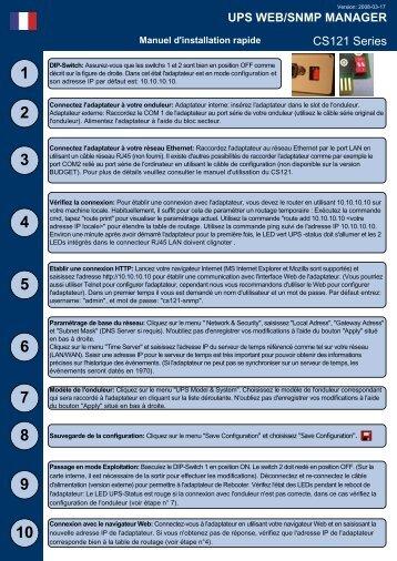 UPS WEB/SNMP MANAGER CS121 Series