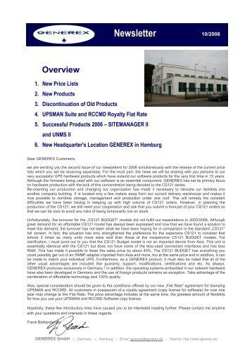 New Products - Generex GmbH