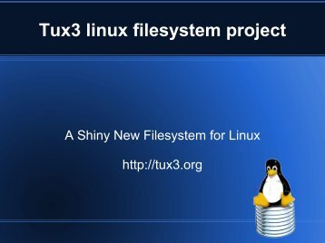 Tux3 linux filesystem project
