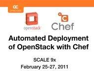 Automated Deployment of OpenStack with Chef