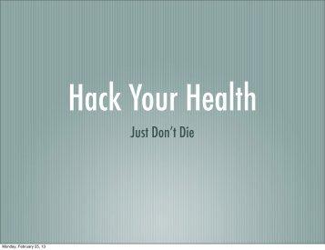Hack Your Health