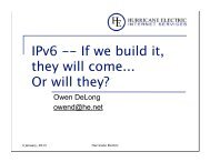 IPv6 -- If we build it they will come.. Or will they?