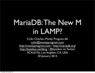 MariaDB The New M in LAMP?