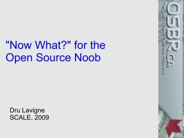 """""""Now What?"""" for the Open Source Noob"""