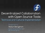 Decentralized Collaboration with Open Source Tools