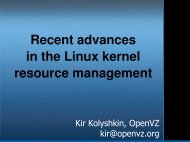 Recent advances in the Linux kernel resource management