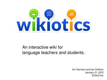 An interactive wiki for language teachers and students