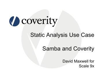 Static Analysis Use Case Samba and Coverity