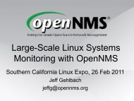 Large-Scale Linux Systems Monitoring with OpenNMS