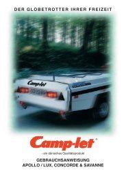 details am camp-let concorde und savanne - Freizeit & Caravan