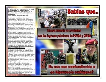 """El """"golpe militar"""" en Venezuela en Abril del 2002 y la ... - RECIVEX"""