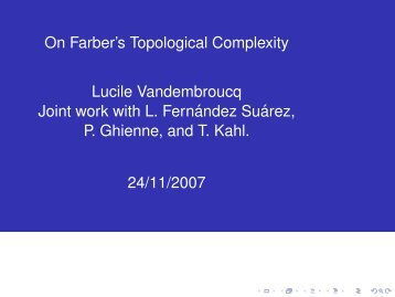 On Farber's Topological Complexity