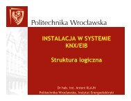 INSTALACJA W SYSTEMIE KNX/EIB Struktura logiczna