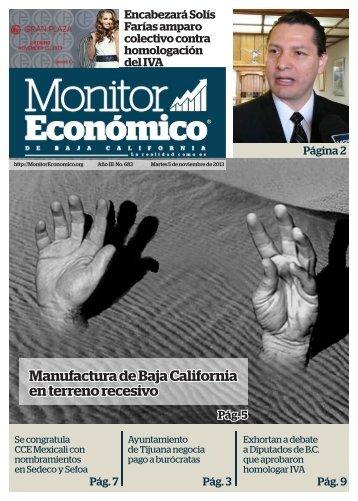 Manufactura de Baja California en terreno recesivo
