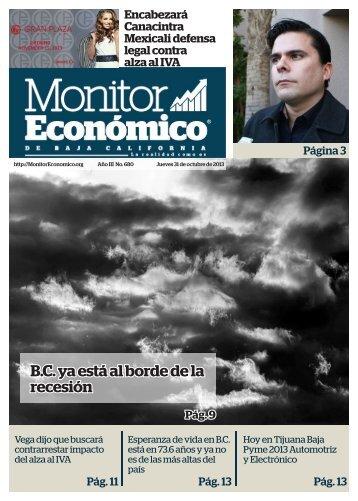 B.C ya está al borde de la recesión