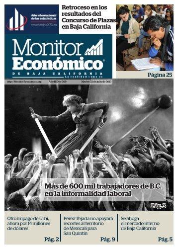 Más de 600 mil trabajadores de B.C en la informalidad laboral