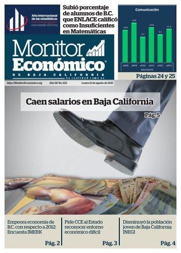Caen salarios en Baja California