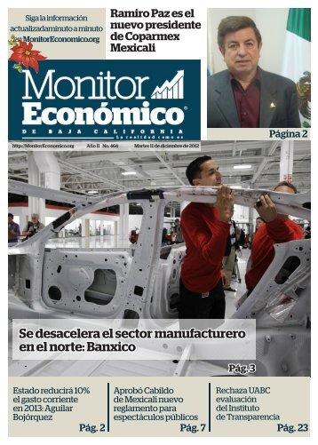 Se desacelera el sector manufacturero en el norte Banxico