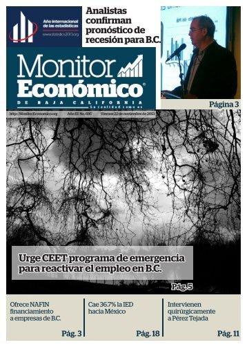 Urge CEET programa de emergencia para reactivar el empleo en B.C