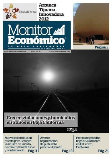 Crecen violaciones y homicidios en 5 años en Baja California