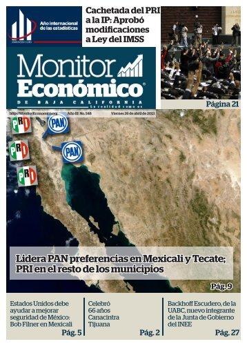Lidera PAN preferencias en Mexicali y Tecate PRI en el resto de los municipios