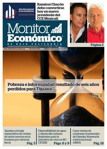 Pobreza e informalidad resultado de seis años perdidos para Tijuana