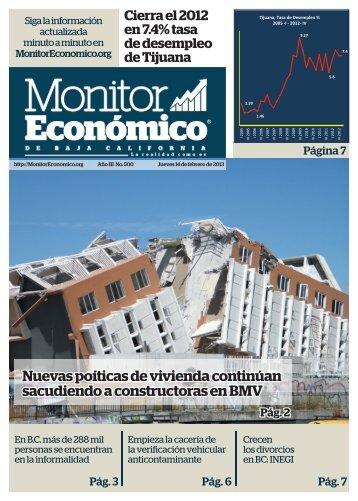 Nuevas poíticas de vivienda continúan sacudiendo a constructoras en BMV