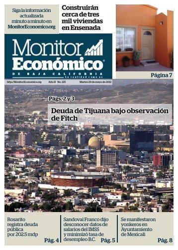 Deuda de Tijuana bajo observación de Fitch